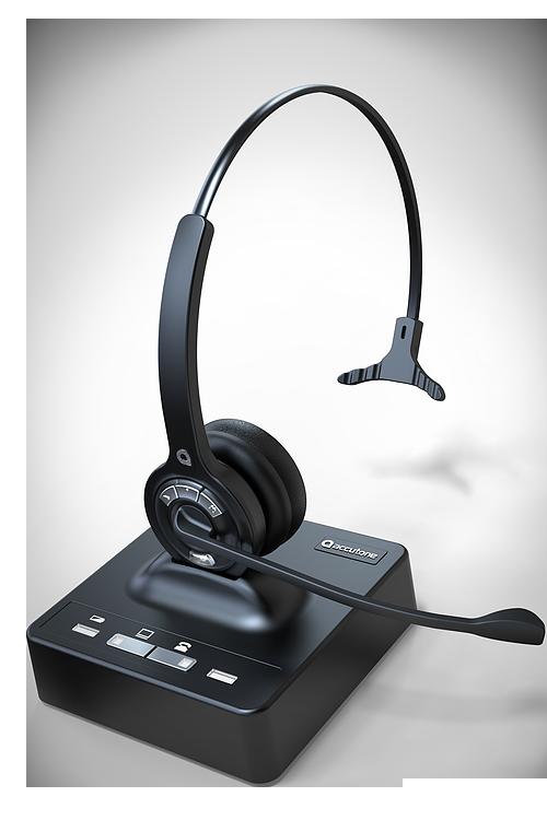 Çağrı Merkezi Bluetooth Kablosuz Kulaklık Accutone DV1B